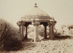 Tatta, Karachi District, Sindh. Chattri near Sayyad Ali Shah Shirazi's Tomb 1491